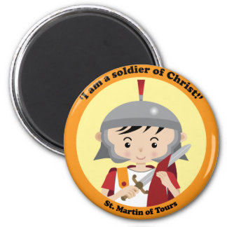 St. Martin of Tours 2 Inch Round Magnet
