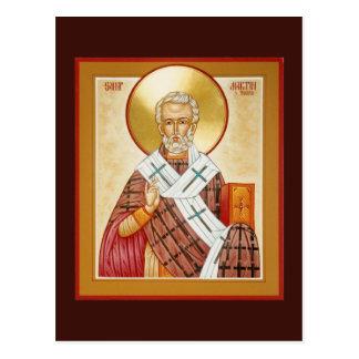 St Martin of Tours Prayer Card Postcard