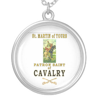 ST MARTIN OF TOURS SILVER PLATED NECKLACE
