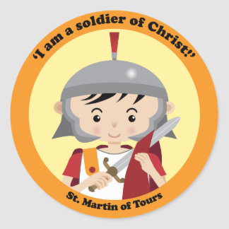 St. Martin of Tours Round Stickers