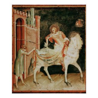 St. Martin sharing his cloak with the beggar Poster