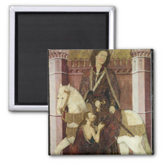St. Martin Sharing his Coat 2 Inch Square Magnet