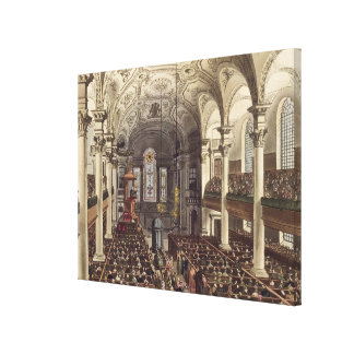 St Martins in the Fields, from 'Ackermann's Microc Gallery Wrap Canvas