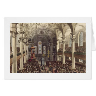 St Martins in the Fields, from 'Ackermann's Microc Greeting Card