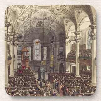 St Martins in the Fields, from 'Ackermann's Microc Beverage Coasters