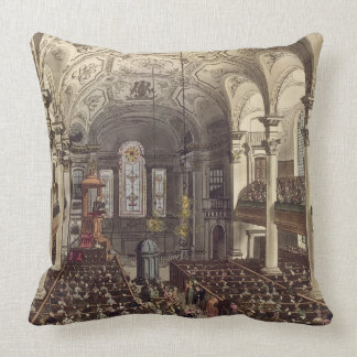 St Martins in the Fields, from 'Ackermann's Microc Throw Pillows