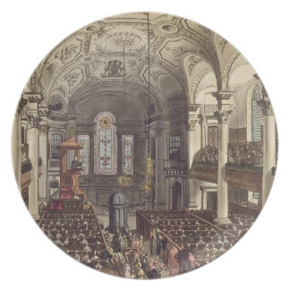 St Martins in the Fields, from 'Ackermann's Microc Party Plate