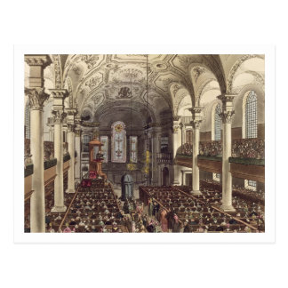 St Martins in the Fields, from 'Ackermann's Microc Postcard