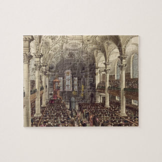 St Martins in the Fields, from 'Ackermann's Microc Jigsaw Puzzles