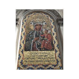 St. Mary and Child Mosaic Art Print Canvas Print