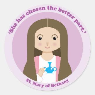 St Mary de Bethany Pegatina Redonda