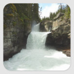 St. Mary Falls at Glacier National Park Square Sticker