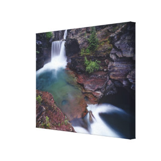 St Mary Falls in Glacier National Park in Canvas Print