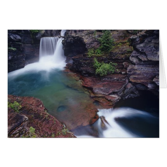 St Mary Falls in Glacier National Park in Card
