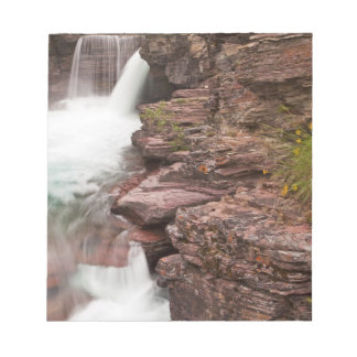 St Mary Falls in Glacier National Park in Notepad