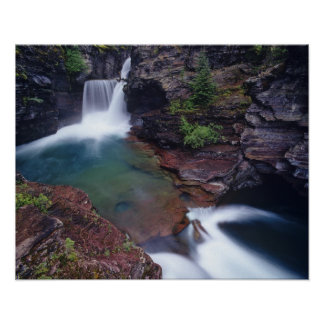 St Mary Falls in Glacier National Park in Posters
