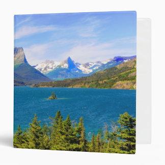 St. Mary Lake,  Glacier National Park,  Montana Vinyl Binder