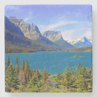 St. Mary Lake,  Glacier National Park,  Montana Stone Coaster