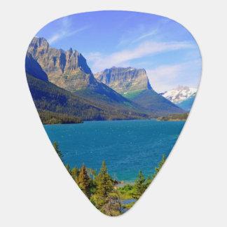 St. Mary Lake,  Glacier National Park,  Montana Guitar Pick
