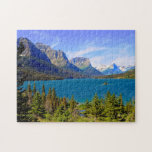 "St. Mary Lake,  Glacier National Park,  Montana Jigsaw Puzzle<br><div class=""desc"">St. Mary Lake,   Glacier National Park,   Montana</div>"