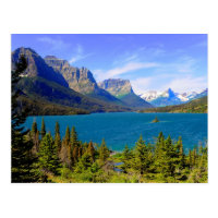 St. Mary Lake,  Glacier National Park,  Montana Postcard