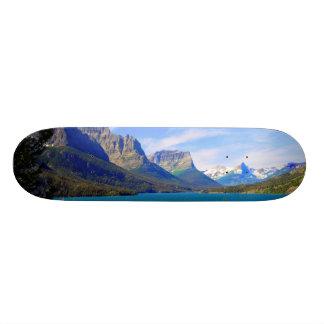 St. Mary Lake,  Glacier National Park,  Montana Custom Skate Board