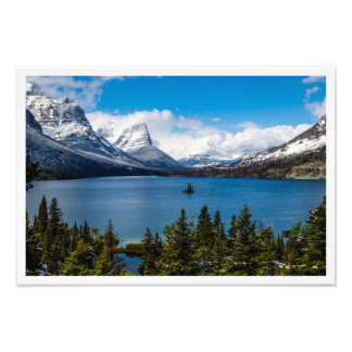 St Mary Lake Glacier National Park MT Photo Print
