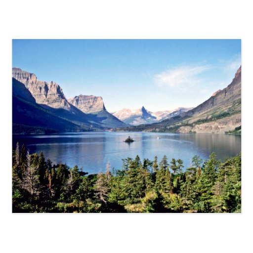 St. Mary Lake - Glacier National Park Postcard