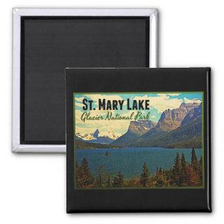 St. Mary Lake Glacier NP Magnets