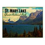 St. Mary Lake Glacier NP Postcard