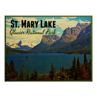 St. Mary Lake Glacier NP Posters