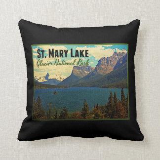 St. Mary Lake Glacier NP Throw Pillow
