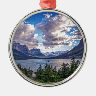 St. Mary Lake Sunset Metal Ornament