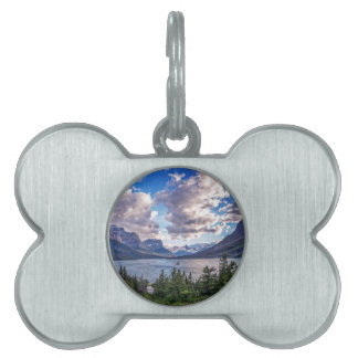 St. Mary Lake Sunset Pet ID Tag