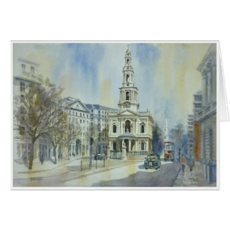 St Mary le Strand London Greeting Card