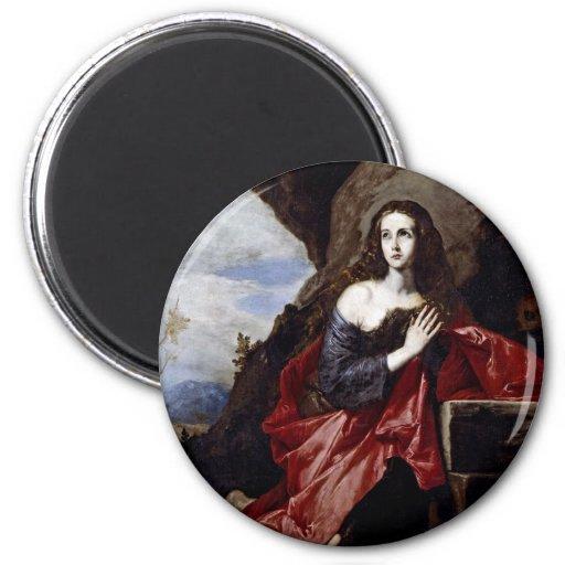 St Mary Magdalena Imán Redondo 5 Cm