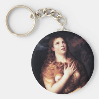 St Mary Magdalena Llavero Redondo Tipo Pin