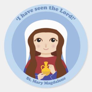 St Mary Magdalena Pegatina Redonda