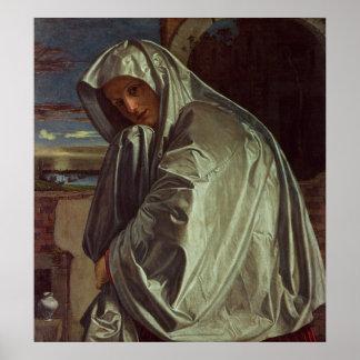 St Mary Magdalena que se acerca al sepulcro Póster