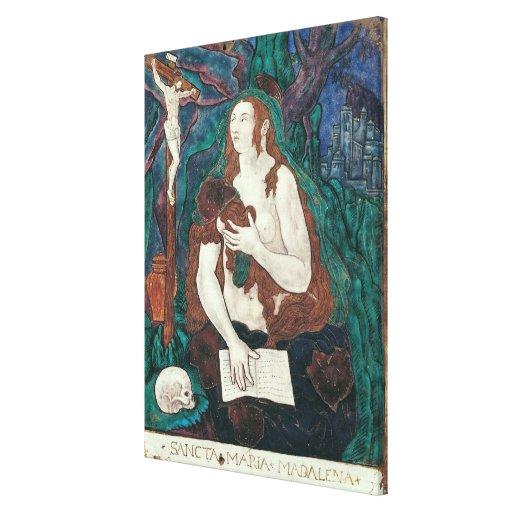 St Mary Magdalena, taller de Lemosín Impresión De Lienzo