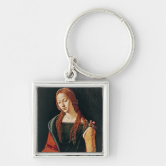 St. Mary Magdalene, 1500-10 Silver-Colored Square Keychain