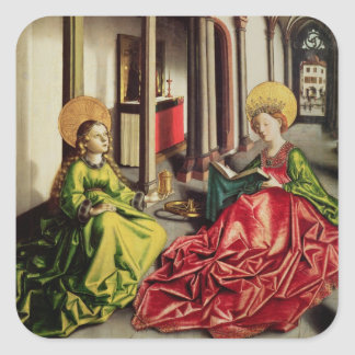 St. Mary Magdalene and St. Catherine of Alexandria Square Sticker