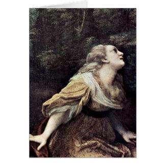 St.Mary Magdalene By Antonio Allegri Da Correggio Greeting Card