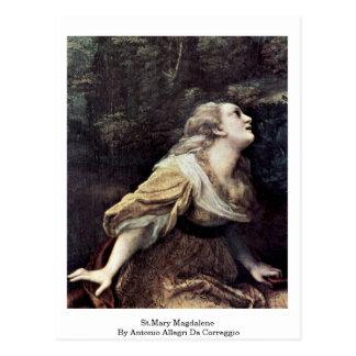 St.Mary Magdalene By Antonio Allegri Da Correggio Postcards