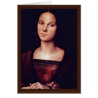 St. Mary Magdalene By Perugino Pietro Card
