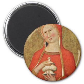 St. Mary Magdalene By Sienesischer Meister Magnet