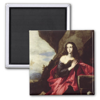 St. Mary Magdalene or St. Thais in the Desert 2 Inch Square Magnet
