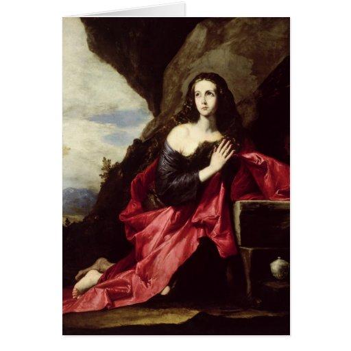 St. Mary Magdalene or St. Thais in the Desert Card