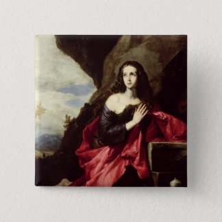 St. Mary Magdalene or St. Thais in the Desert Pinback Button