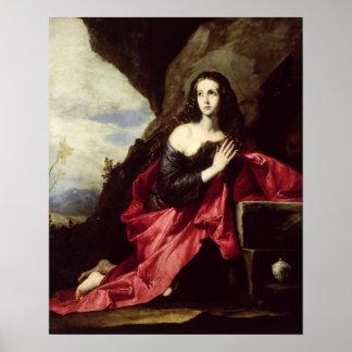 St. Mary Magdalene or St. Thais in the Desert Poster